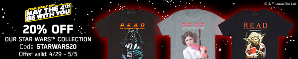 Get 20% off Star Wars merch at Out Of Print!