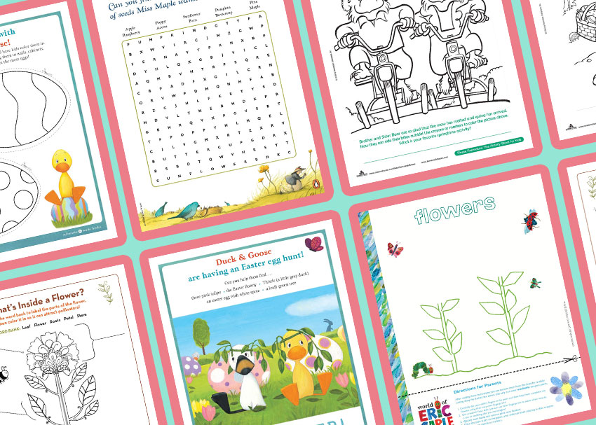 Springtime Printables and Activities