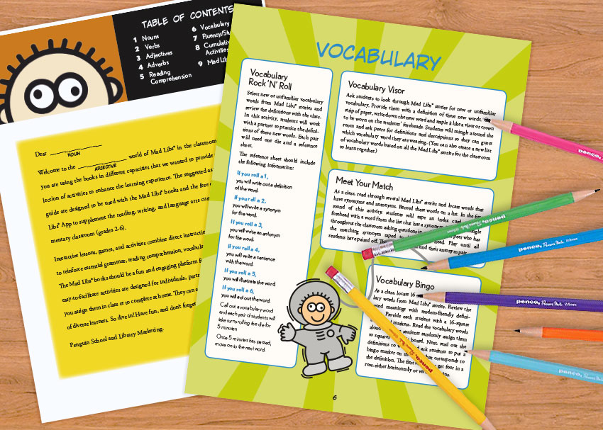 A Printable Educator's Guide to Mad Libs
