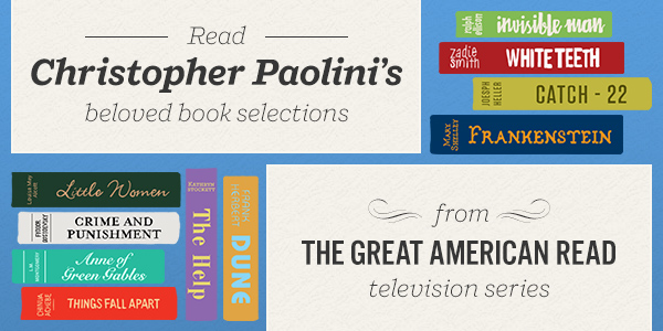 Read Christopher Paolini's Beloved Book Selections from the Great American Read TV Series